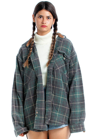 Vintage 90's Forest Dweller Plaid Shacket - One Size Fits Many
