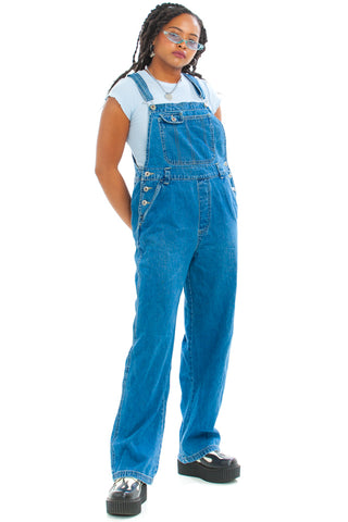 Vintage 90's Paulie Blue Denim Overalls - One Size Fits Many