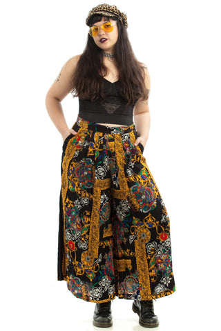 Vintage 90's Like a Work of Art Baby Wide-Legged Pants - XL