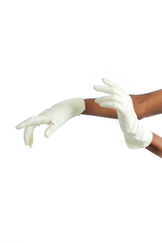Vintage 60's Cream Suede Gloves