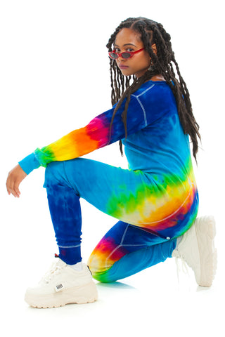 Vintage 90's Tie Dye Long-Johns - One Size Fits Many