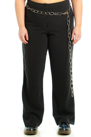Vintage 90's Pin-Stripe Trousers - XL