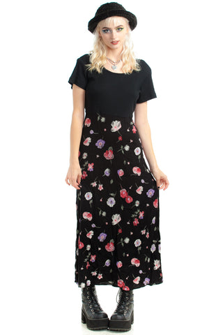 Vintage 90's Blossom Maxi Dress - One Size Fits Many
