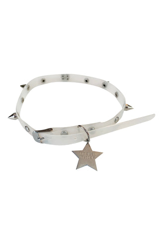 Clear Star Spiked Vinyl Choker