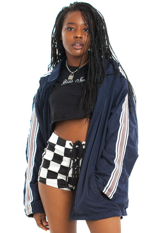 Vintage 90's Tek Stripe Windbreaker - One Size Fits Many