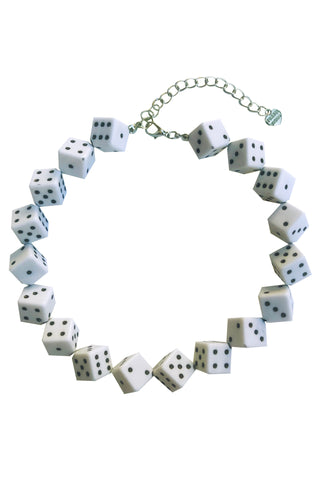 White Dice Choker