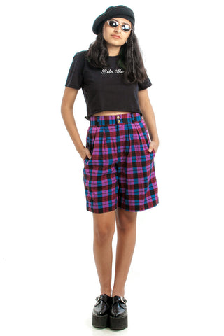 Vintage 90's Plaid Idea Shorts - XS/S