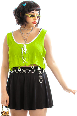 Vintage 90's Modern Limes Crop Top - One Size Fits Many