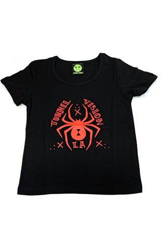 Black Widow Logo Rib Knit Baby Tee