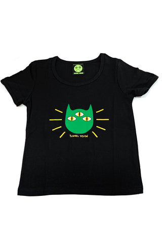 Psychic Kitty Rib Knit Baby Tee