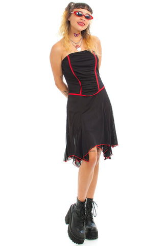 Vintage 90's Black & Red Fairy Dress - XS/S