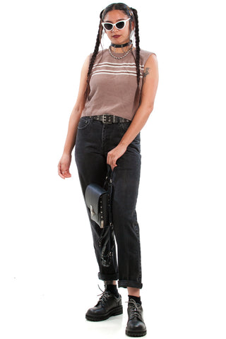 Vintage 90's Activated Charcoal Jeans - S/M