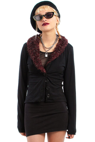 Vintage 90's Fuzzy Witch Cardigan - XS