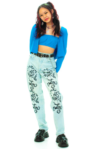 Vintage 80's D'mode Classix Embroidered Jeans - XS