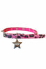 Pink Cheetah Star Spiked Faux Fur Choker