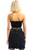 Vintage 90's Moda Button-Front Mini Skirt - S