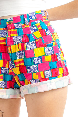 Vintage 90's Bright Lights Shorts - XS/S