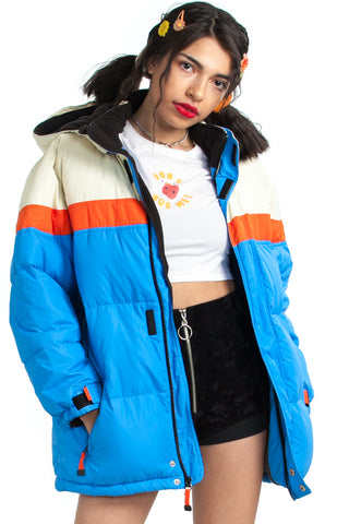 Vintage Y2K Sunny Days Ahead Puffer Coat - XS/S