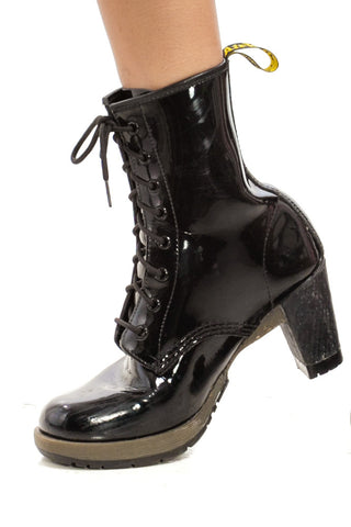 Not-Quite-Vintage Slick Street Walker Heeled Docs - US 9