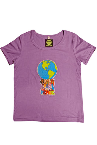 Peace is Cute Purple Rib Knit Baby Tee