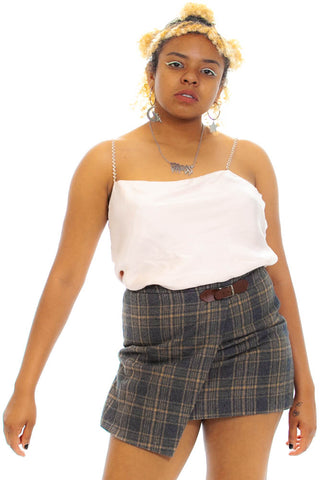 Vintage Y2K That's a Wrap! Plaid Mini Skirt - M/L