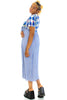 Vintage 90's Country Rose Gingham Check Maxi Dress - XS/S/M