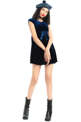 Vintage 90's Midnight Babydoll Mini Dress - XS