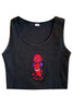 Devil Dude Embroidered Crop Tank