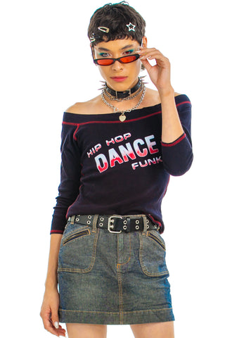 Vintage Y2K Hip Hop Dance Funk Top - One Size Fits Many
