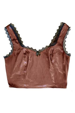 Bunny Brown Lingerie Crop Top