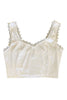 Bunny White Lingerie Crop Top