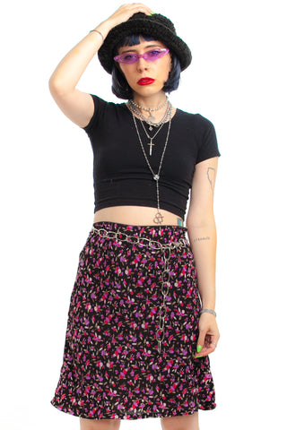 Vintage 90's Passion Punch Midi Skirt - S/M