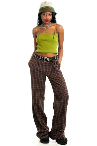 Vintage Y2K Plaid Trousers - M
