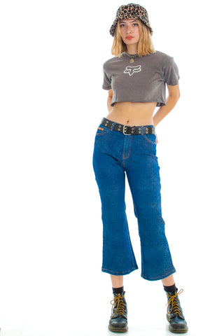 Vintage 90's Does 70's Retro Crop Flares - S