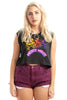 Vintage 90's Thrashed Plum High Waist Denim Shorts - M/L/XL
