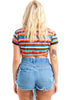 Vintage 90's Slash and Burn Destroyed Denim Cut Offs - M/L/XL