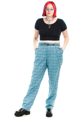 Vintage Y2K Italian Made Statement Plaid Pants - 2X