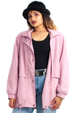 Vintage 90's Misty Blush Anorak - One Size Fits Many