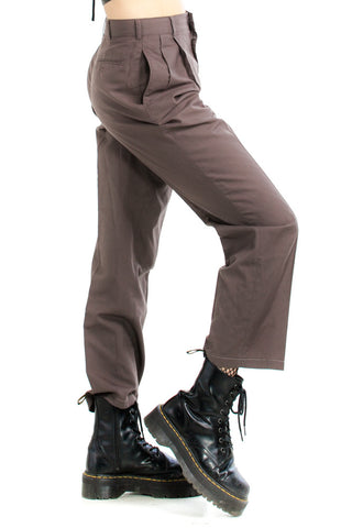 Vintage 80's I'm Neutral Brown Trousers - S/M