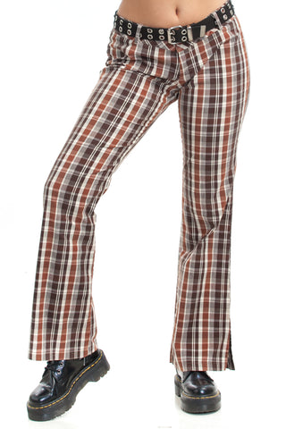 Vintage Y2K Happy Days Plaid Trousers - L
