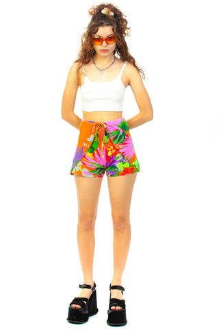 Vintage 70's Vacation Wrap Short - XS