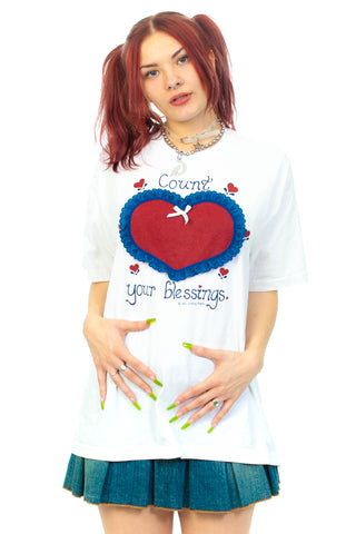 Vintage 80's Count Your Blessings T-Shirt - L/XL/2X