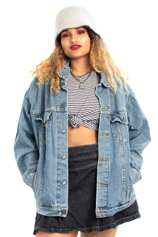 Vintage 90's Levi's Essential Denim Jacket - One Size Fits Many