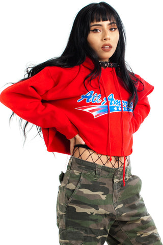 Vintage 90's All American Cropped Hoodie - XS/S/M