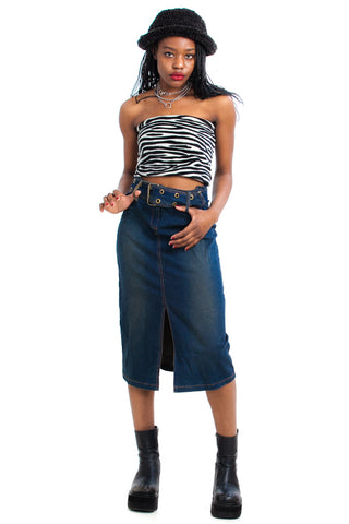 Vintage Y2K Spotlight: Me Stretch Denim Skirt - S/M
