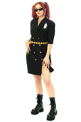 Vintage 80's Beaded Blazer Dress - M/L