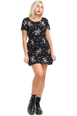 Vintage 90's Pretty Little Flower Mini Dress - L