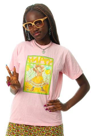 Vintage 90's Happy T-Shirt - S/M/L