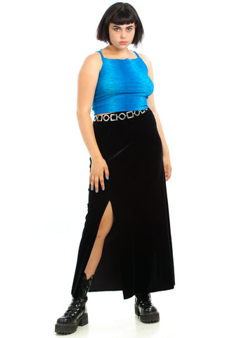 Vintage 90's Black Widow Maxi Skirt - L