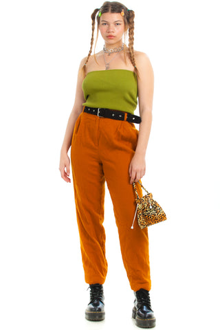Vintage 80's Citrus Wool Trousers - S/M